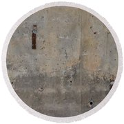 Urban Abstract Construction 1 Round Beach Towel
