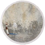 Urban Abstract Construction 2 Round Beach Towel