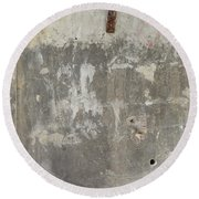 Urban Abstract Construction 3 Round Beach Towel