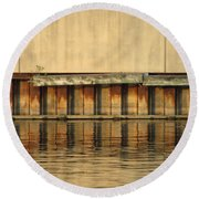 Urban Abstract River Reflections Round Beach Towel
