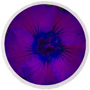 Urban Art Hibiscus II Round Beach Towel
