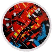 Urban Communication Round Beach Towel