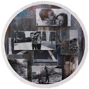 Urban Decay Engagement Collage Round Beach Towel