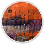 Urban Rust Round Beach Towel