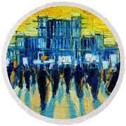 Urban Story - The Romanian Revolution Round Beach Towel
