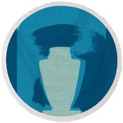 Urn On Canvas Round Beach Towel