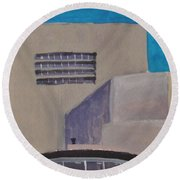 Urn On The Guggenheim Round Beach Towel