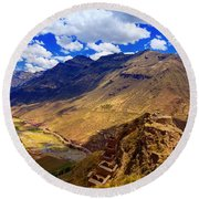 Urubamba River Round Beach Towel