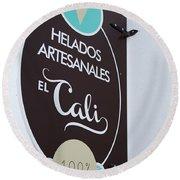 Uruguay Helados Round Beach Towel