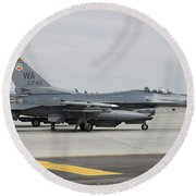 U.s. Air Force F-16c Planes Undergo Round Beach Towel