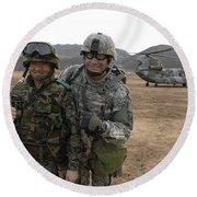U.s. Army Commander, Right Round Beach Towel