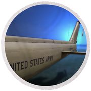 Us Army Helicopter Round Beach Towel