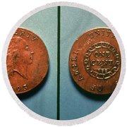 U.s. Coin, 1793 Round Beach Towel