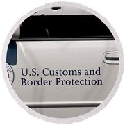 U.s. Customs And Border Protection Round Beach Towel