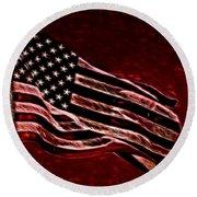 Us Flag Round Beach Towel