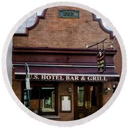 Us Hotel Bar And Grill - Manayunk  Round Beach Towel