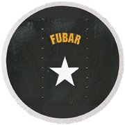 Us Military Fubar Round Beach Towel by Thomas Woolworth