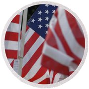 Usa Flags 01 Round Beach Towel