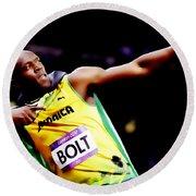Usain Bolt Sweet Victory II Round Beach Towel