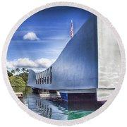 Uss Arizona Memorial- Pearl Harbor Round Beach Towel