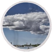 Uss Arizona Memorial-pearl Harbor V2 Round Beach Towel