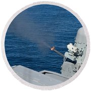 Uss Harry S. Truman Tests The Close-in Round Beach Towel