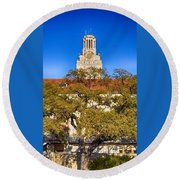 Ut Tower Round Beach Towel