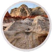 Utah Badlands Round Beach Towel