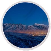 Utah Valley Round Beach Towel by Chad Dutson