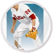 Utley In The Ready Round Beach Towel