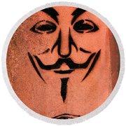 V For Vendetta Round Beach Towel