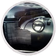 V8 Grill In Gray Round Beach Towel