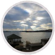 Va March Sunset Round Beach Towel