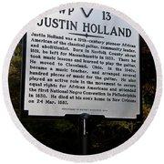 Va-wp13 Justin Holland Round Beach Towel