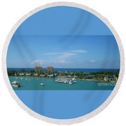 Vacation Round Beach Towel