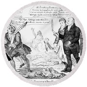 Vaccination Cartoon, 1808 Round Beach Towel