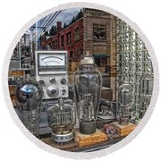 Vacuum Tubes And Diodes - Wallace Idaho Round Beach Towel