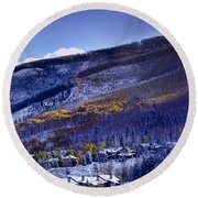 Vail Sunrise Round Beach Towel
