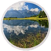 Val Di Sole - Covel Lake Round Beach Towel