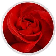Valentine Rose Round Beach Towel