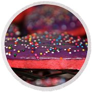 Valentine Treats Scratch Made Round Beach Towel