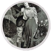 Valentines Day, 1898 Round Beach Towel
