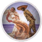 Vallarta Dancers Round Beach Towel