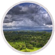 Valley At Chocolate Hills Round Beach Towel