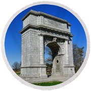 Valley Forge National Memorial Arch Round Beach Towel