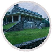 Valley Forge Station Round Beach Towel