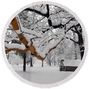 Valley Forge Winter 9817 Round Beach Towel