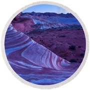 Valley Of Fire - Fire Wave 2 - Nevada Round Beach Towel