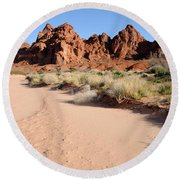 Valley Of Fire Wash Round Beach Towel