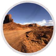 Valley Of Monuments  Round Beach Towel